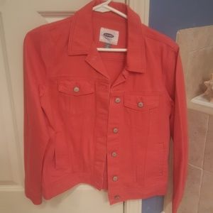 Burnt orange Old Navy denim jacket